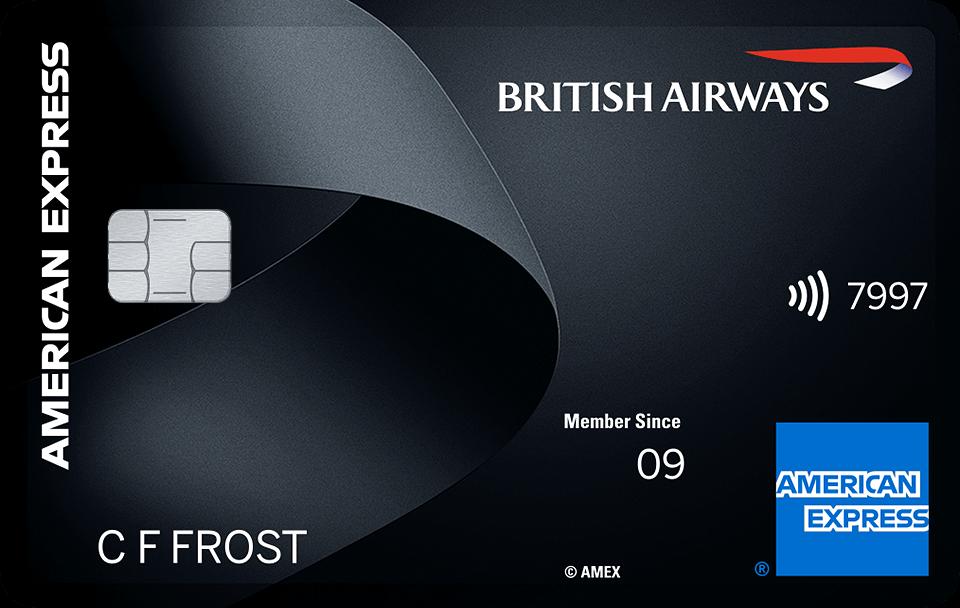 British Airways BA Premium Plus American Express Amex credit card