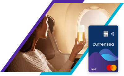 Earn 2 KrisFlyer miles per £1 spent abroad on the  Currensea travel money card