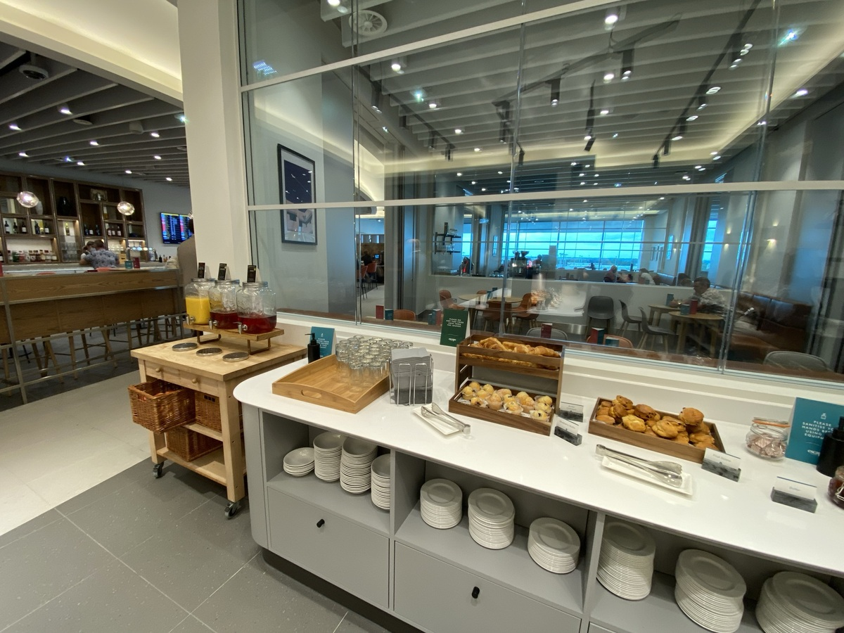 Manchester Airport T2 Escape lounge pastries