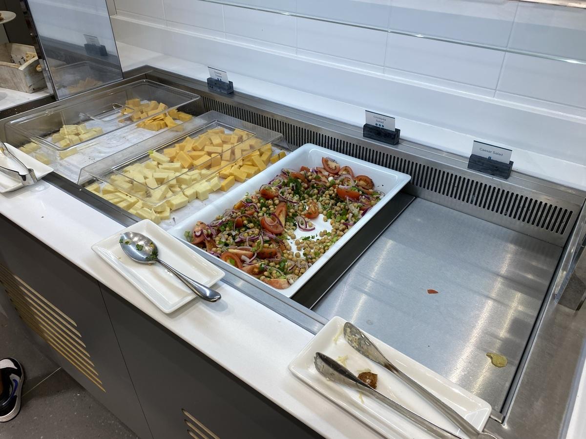 Manchester Airport T2 Escape lounge salads