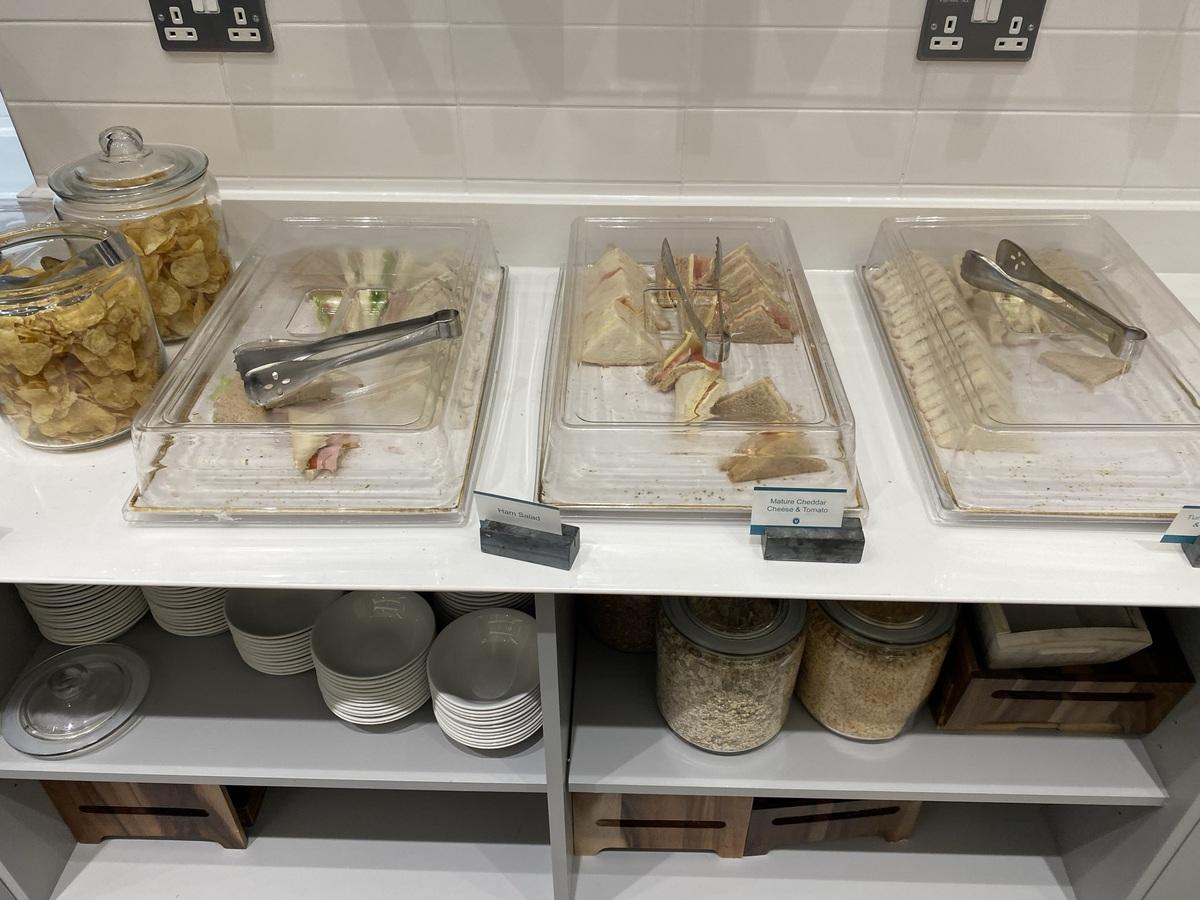 Manchester Airport T2 Escape lounge sandwiches