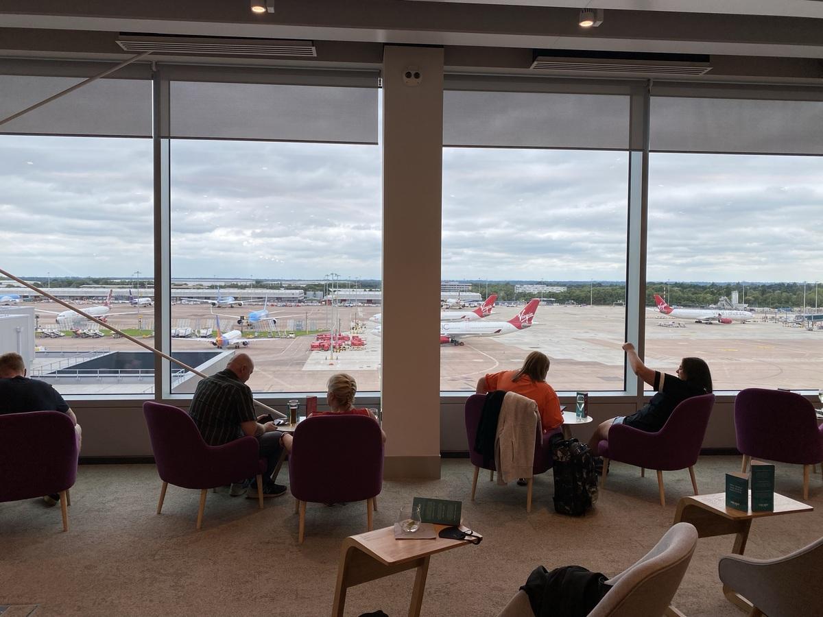Manchester Airport T2 Escape lounge view
