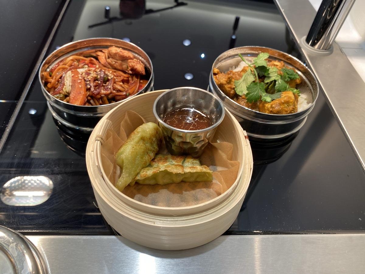 Manchester Terminal 2 1903 lounge gyoza curry stirfry