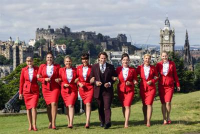 Virgin Atlantic Edinburgh crew