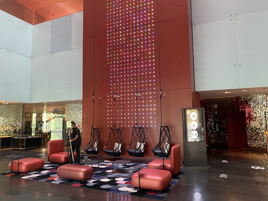 W Barcelona lobby swings