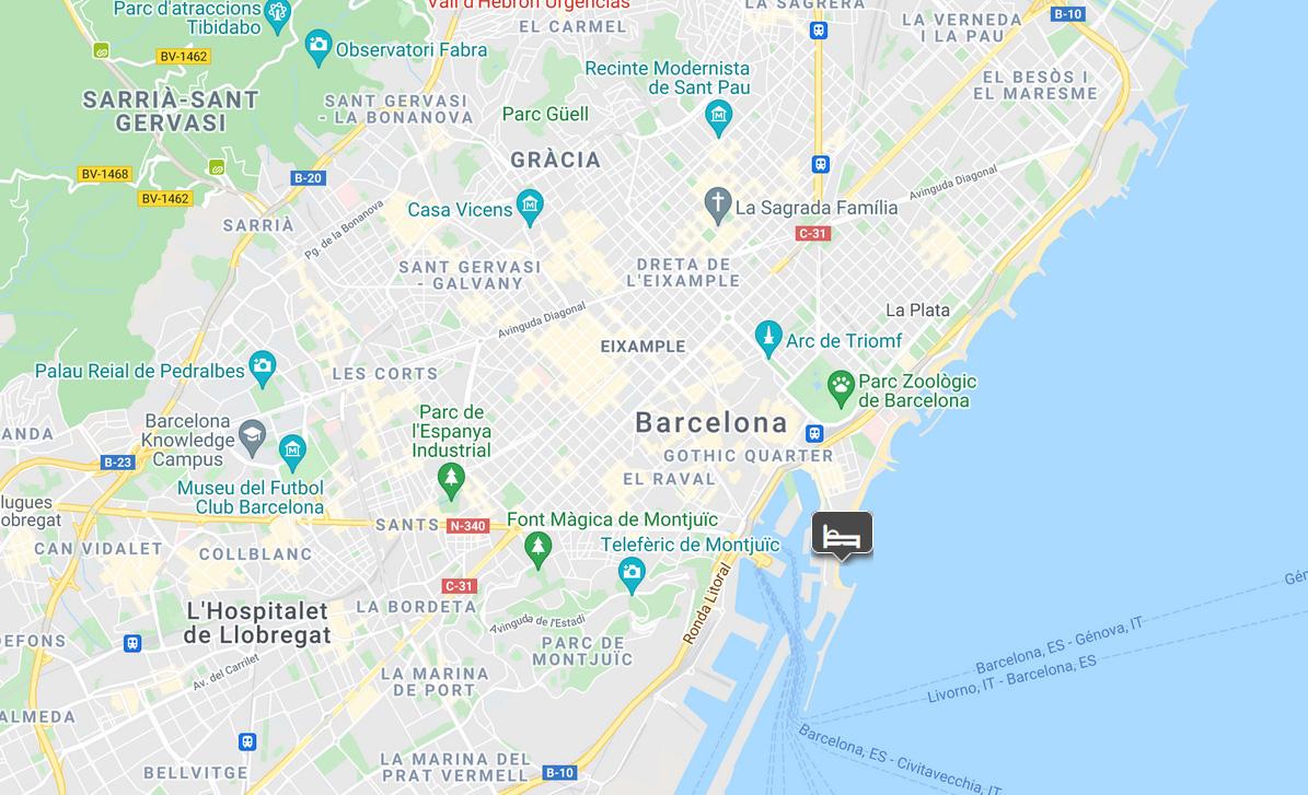 W Barcelona location