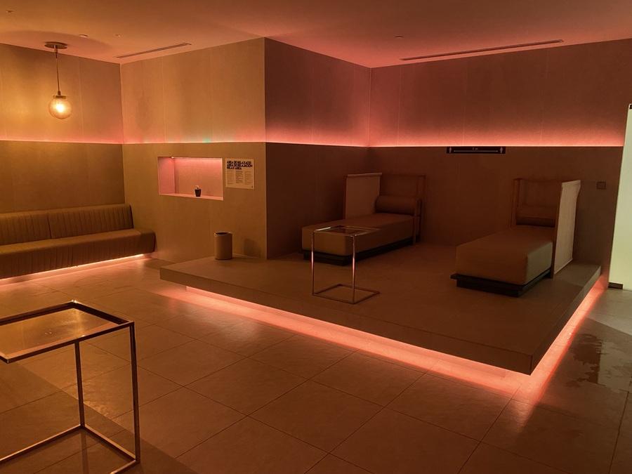 W Barcelona spa loungers