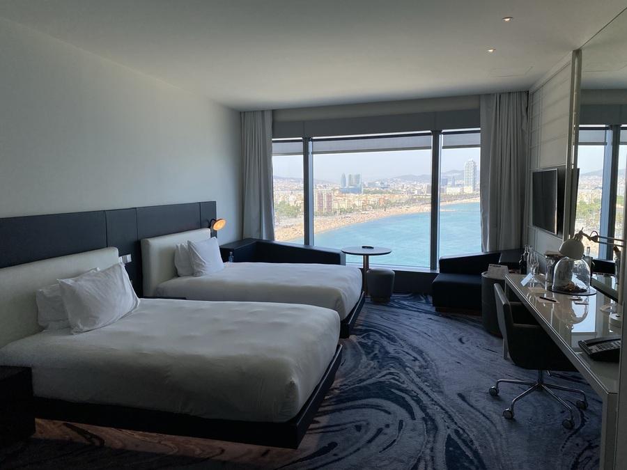 W Barcelona twin room
