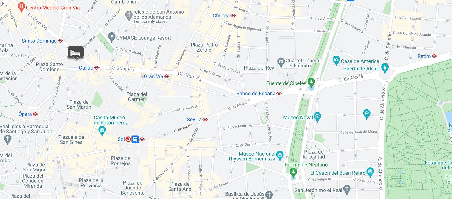 Aloft Madrid Gran Via location