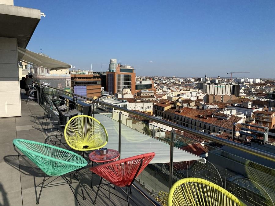 Aloft Madrid Gran Via rooftop bar