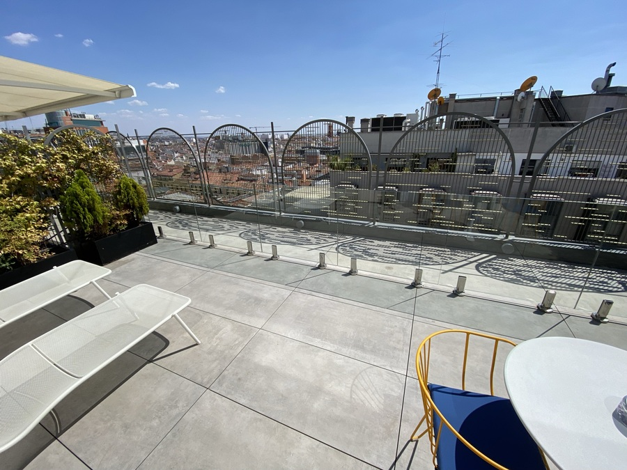 Aloft Madrid Gran Via terrace