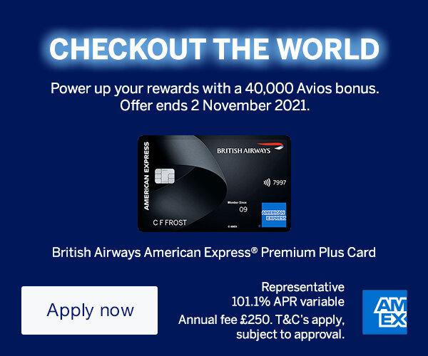 240,000 bonus Avios with British Airways Premium Plus American Express
