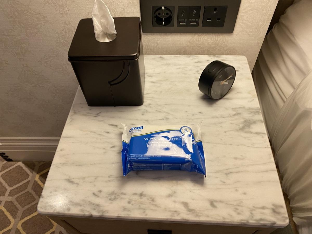 Great Scotland Yard Hotel antibacterial wipes