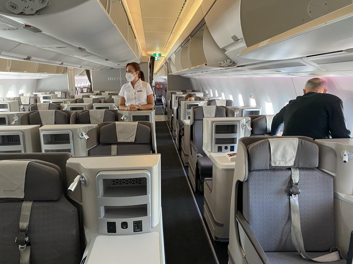 Iberia A350 business class boarding