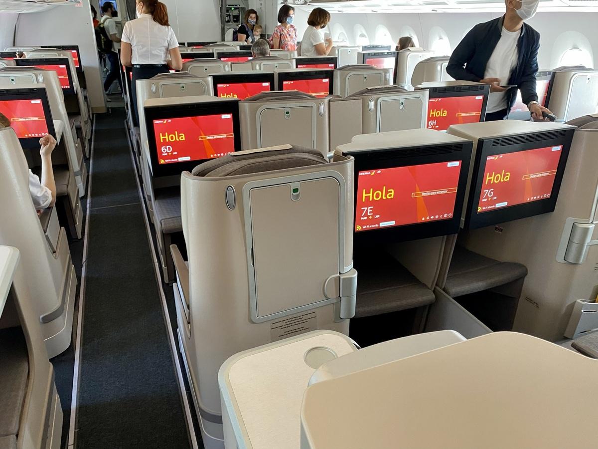 Iberia A350 business class cabin 2