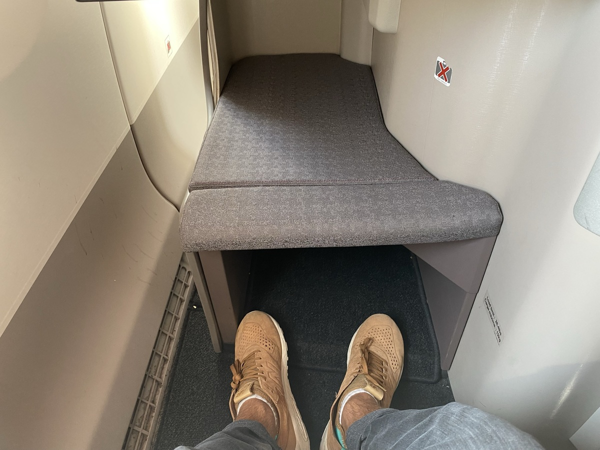 Iberia A350 business class foot cubby