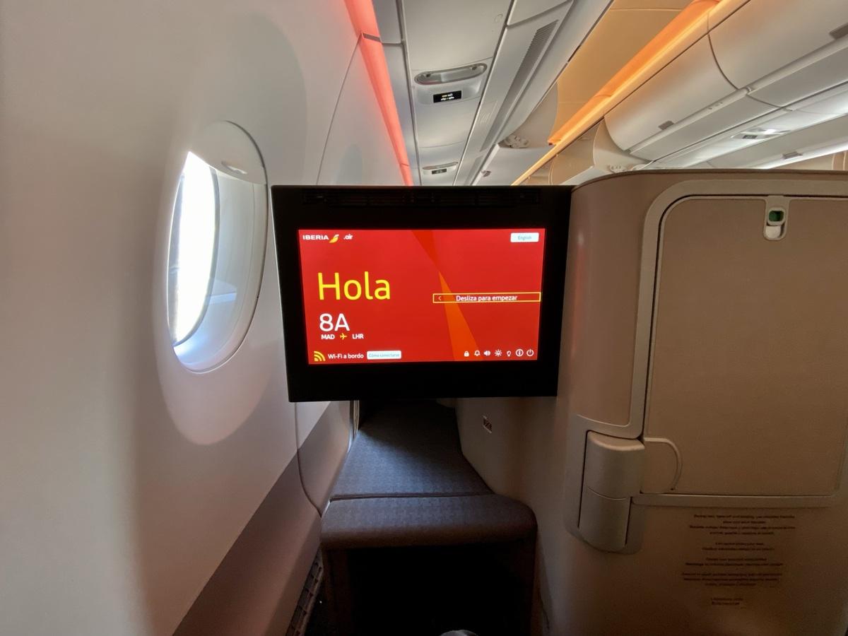 Iberia A350 business class ife