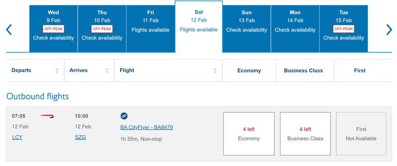 BA adds London City to Salzburg - bookable with Avios for February half term skiing