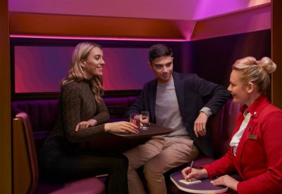 Virgin Atlantic A350 leisure The Booth