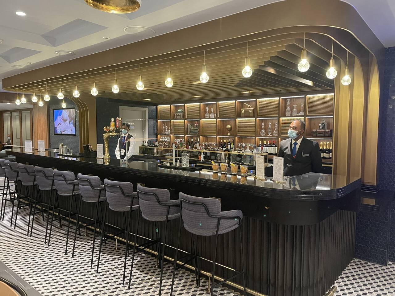 American Express Centurion Lounge Heathrow bar