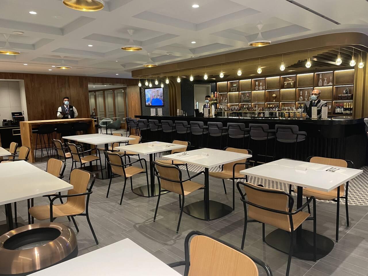 American Express Centurion Lounge London Heathrow dining room