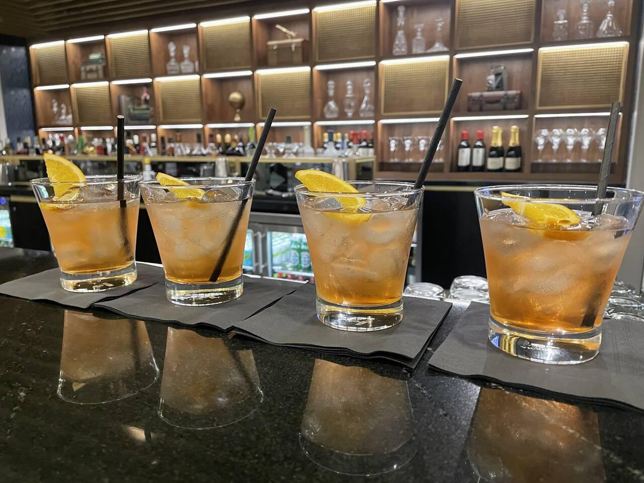 American Express Centurion Lounge Heathrow Airport bar