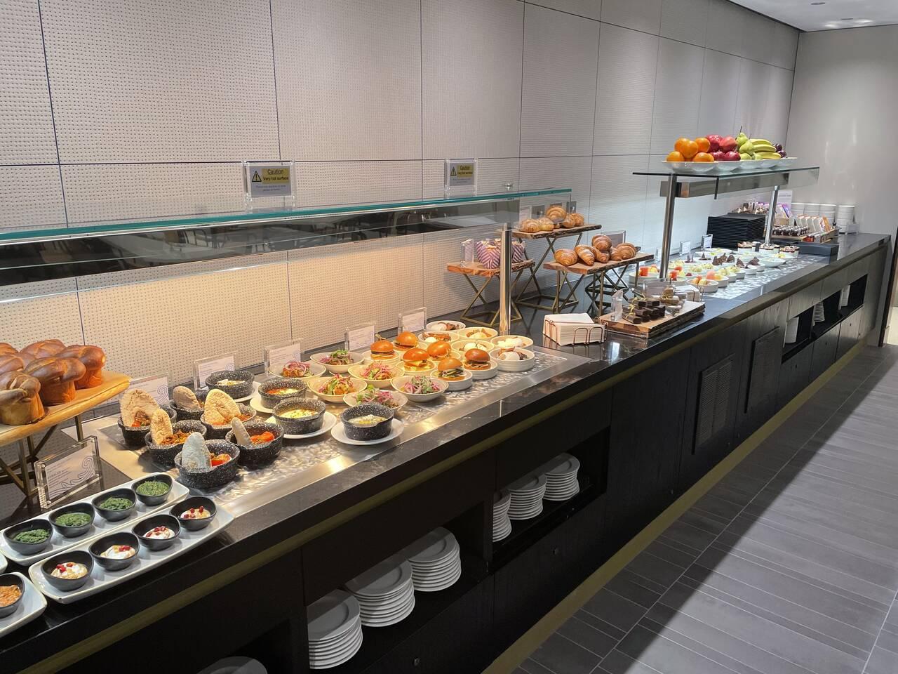 American Express Centurion Lounge London Heathrow buffet