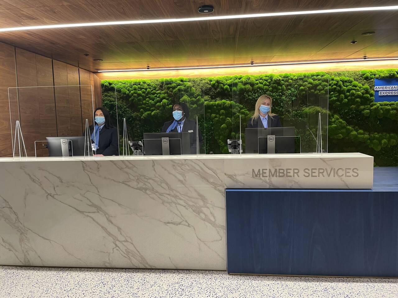 American Express Centurion Lounge Heathrow Airport reception