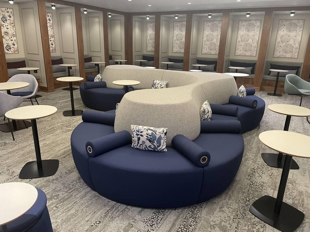 American Express Centurion Lounge seating Heathrow