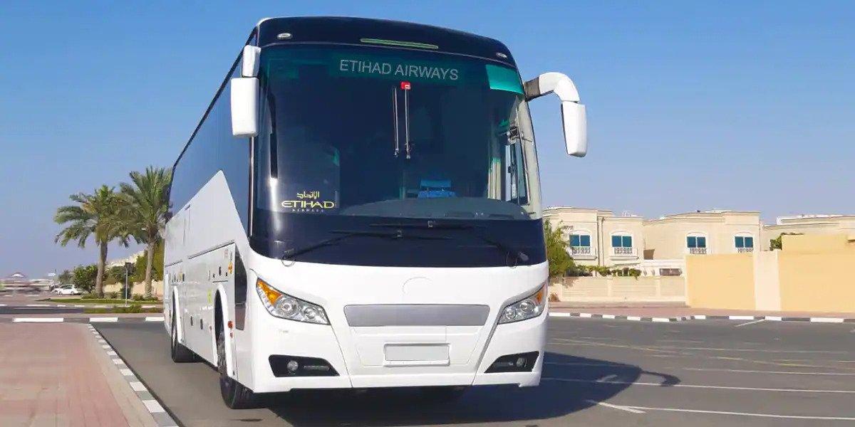 Low Etihad fare via bus to Dubai