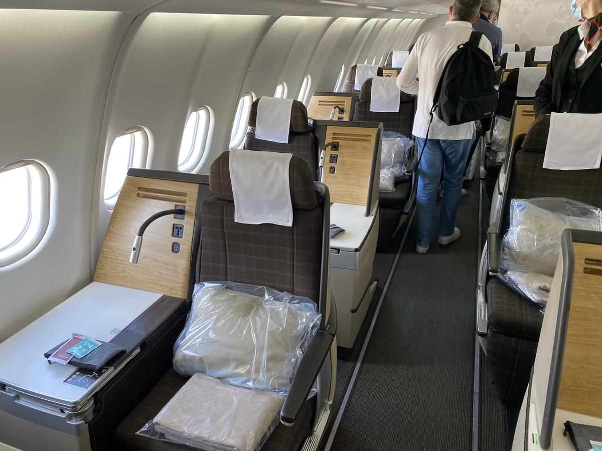 SWISS A330 business class K seat