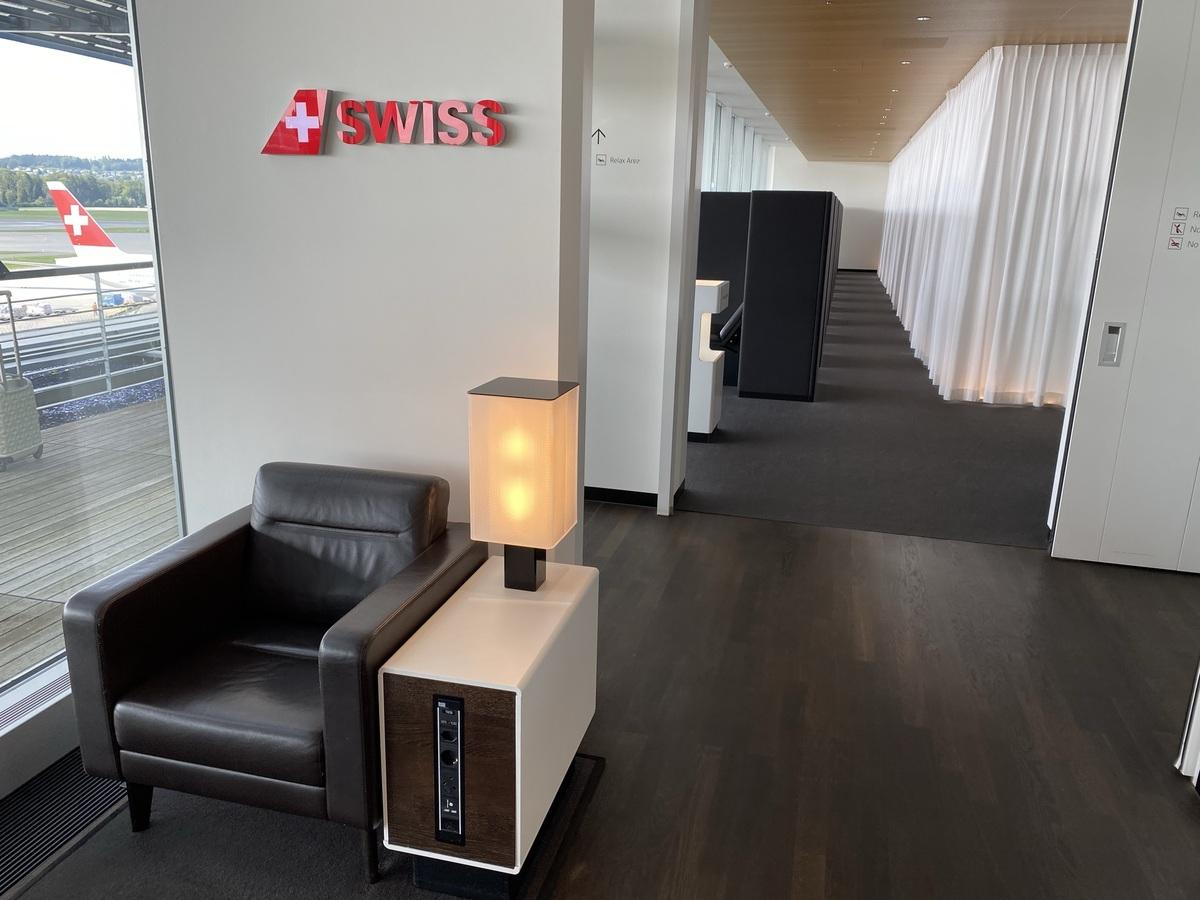 SWISS Senator Lounge Zurich seat