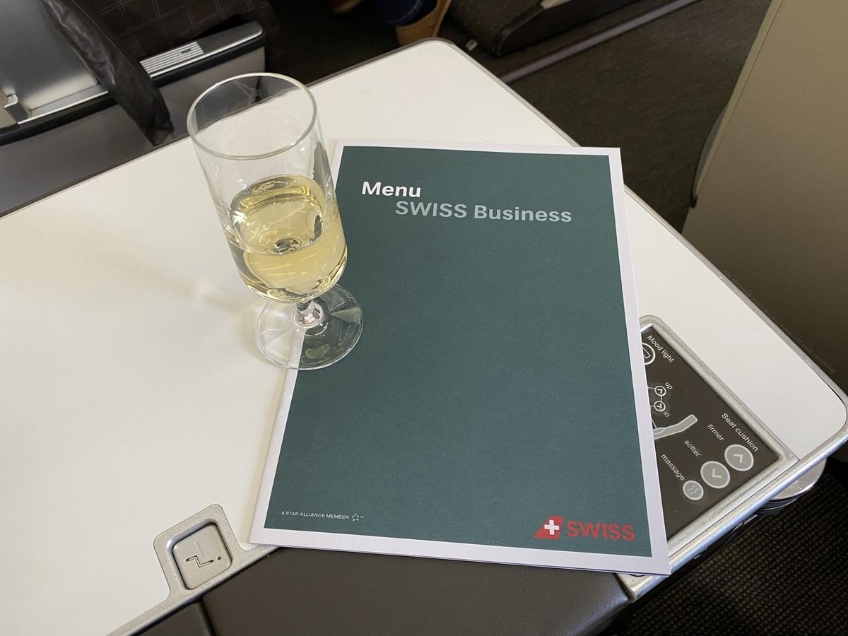 SWISS business class menu