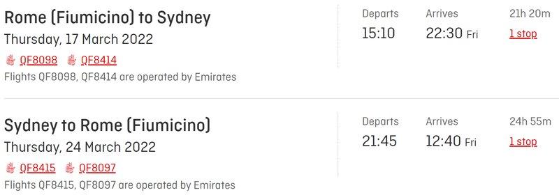Emirates and Qantas joint venture