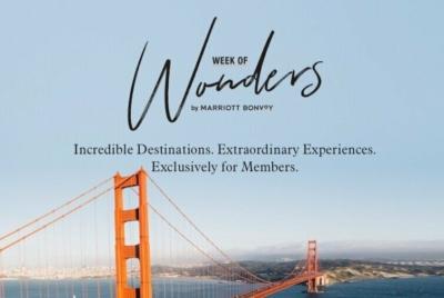 Week of Wonders Marriott Bonvoy