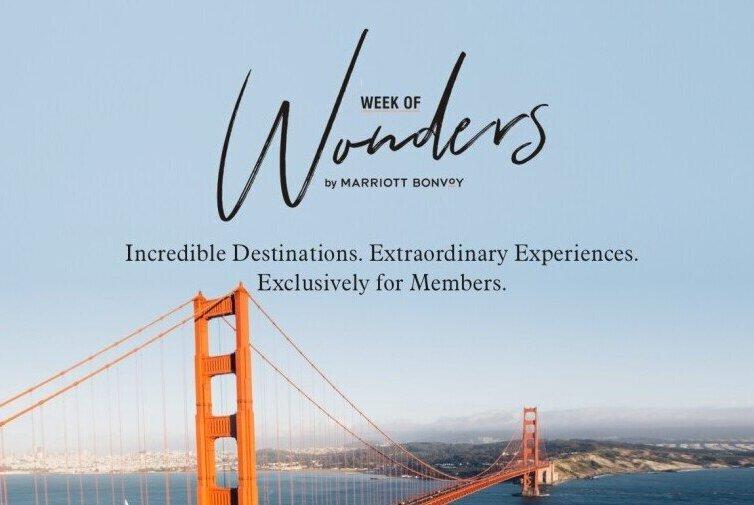 Marriott Bonvoy Week of Wonders